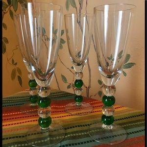 Vietri Champagne Flutes